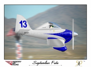 "Formula One Racer ""September Fate"" Special Print 12X17 Only"
