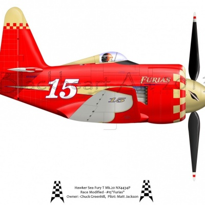 "Hawker Sea Fury ""Furias"" 2014"