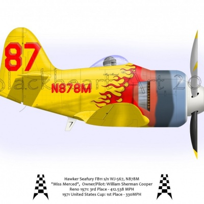 "Hawker Seafury ""Miss Merced"""
