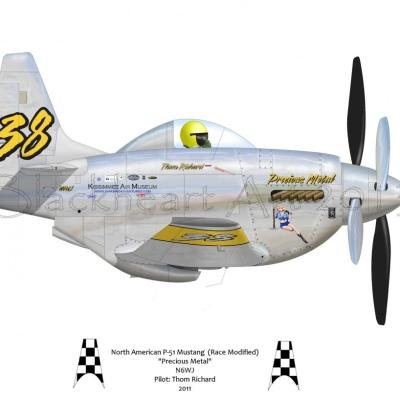"""North American P-51 Mustang """"Precious Metal"""""""