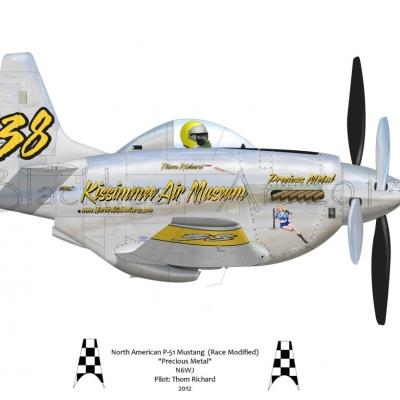 """North American P-51 Mustang """"Precious Metal"""" 2012"""