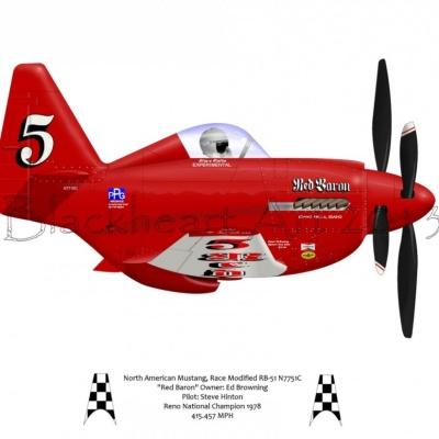 "North American Mustang ""Red Baron"""