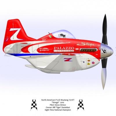"North American P-51D ""Strega"" 2010"
