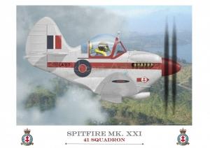 Spitfire MK XXI 41 Squadron