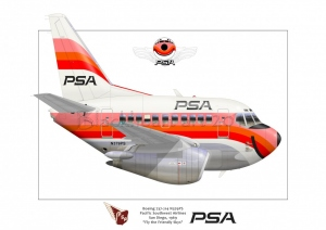 Boeing 737- 200 Pacific Southwest Airlines