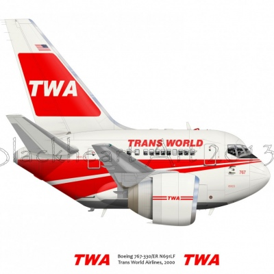 Boeing 767 Trans World Airlines
