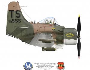 "Douglas A-1H Skyraider ""The Proud American"""