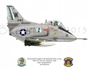McDonnell Douglas A-4E Skyhawk Chu Lai, Vietnam