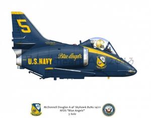 "McDonnell Douglas A-4F Skyhawk ""Blue Angels"""