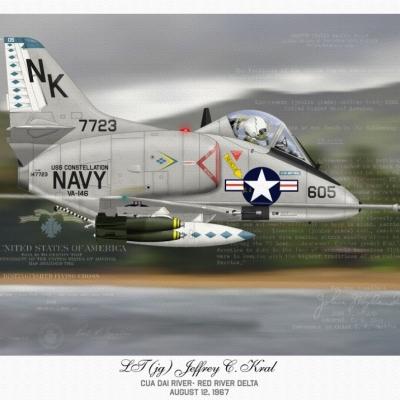 A-4C Cua Dai River 1967