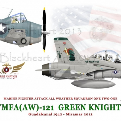 VMFA-(AW) 121 Special print 12x17