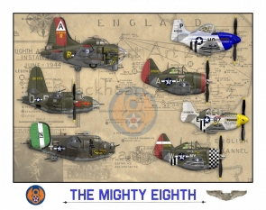 The Mighty Eighth Poster 12x17