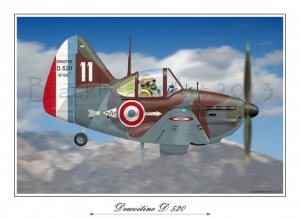 DE520 French Fighter 12x17