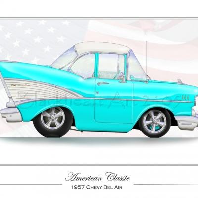 1957 Chevy Bel Air Blue