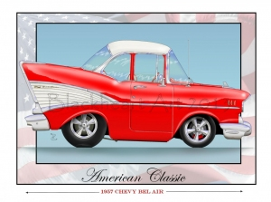 1957 Chevy Bel Air- Red