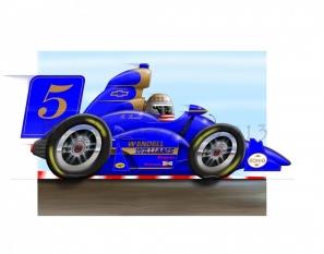 Indy Car Blue