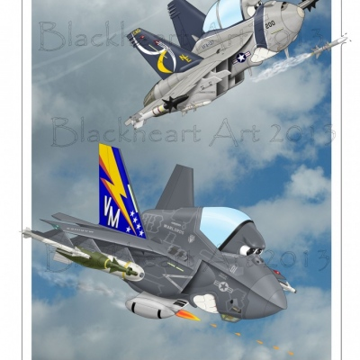 """""""Brothers in Arms"""" F-18/ F35"""