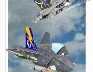 """Brothers in Arms"" F-18/ F35"