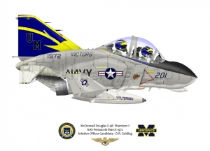 Special custom F-4 University Scheme Not for Sale