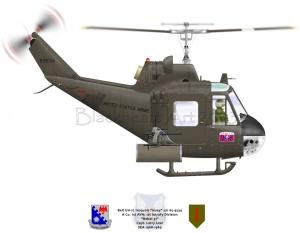 "Bell UH-1C ""Huey"" ""Rebel 31"""