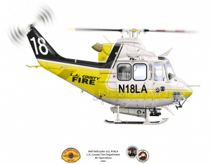 LA County Fire Bell Helicopter