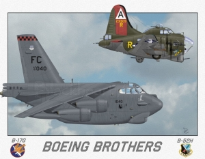 """Boeing Brothers"" Special Print 12x17"