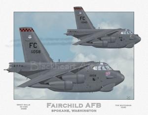 Fairchild AFB B-52H, Special Print 12x17