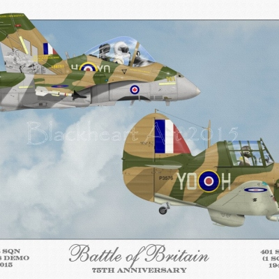 """""""Battle of Britain RCAF"""" Special print 12x17"""