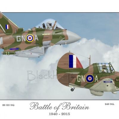 """Battle of Britain RAF"" Special Print 12x17"