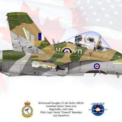 McDonnell Douglas CF-18C 2015 Demo Team