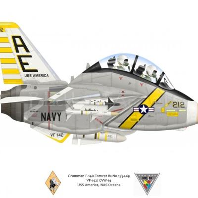 Grumman F-14A Tomcat VF-142