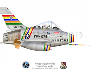 North American F-100D Super Sabre George AB