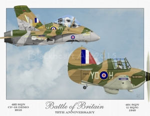 """Battle of Britain RCAF"" Special print 12x17"