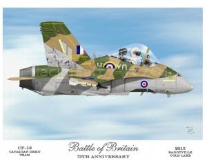 """Battle of Britain"" CF-18 Hornet 2015 Demo Team"