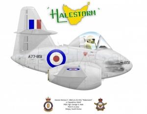 """Gloster Meteor F. Mk8 """"Halestorm"""""""