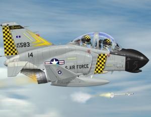 F-4 Phantom Sidewinder Shoot