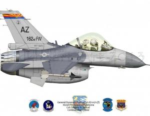 General Dynamics F-16C Tucson IAP, AZ