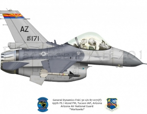 "General Dynamics F16C ""Warhawks"""