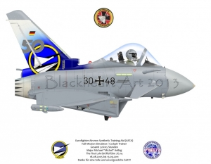 Eurofighter Typhoon FGR4 German AF Custom Print