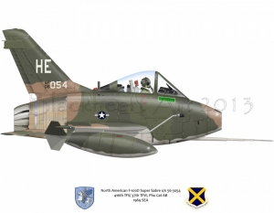 North American F-100D Super Sabre Phu Cat AB