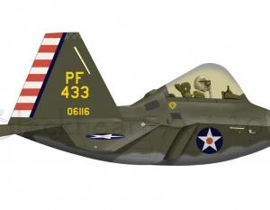 F-22 WWII Scheme