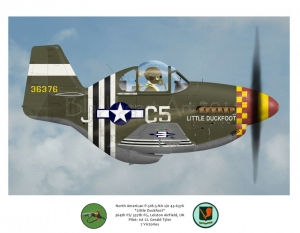 "North American P-51B ""Little Duckfoot"" 357th FG"