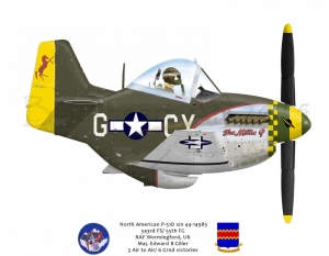 """North American P-51D """"The Millie G"""""""