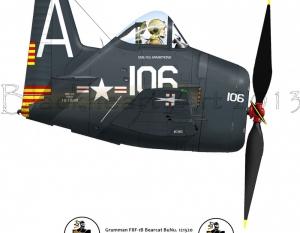 Grumman F8F Bearcat USS Tarawa VF-15A