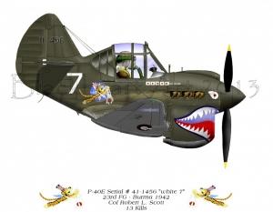 """P-40E  """"White 7"""""""