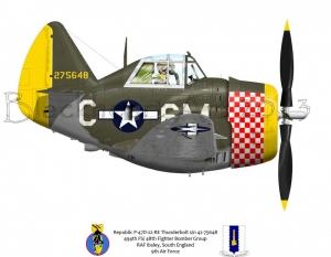 Republic P-47D RAF Ibsley, South England