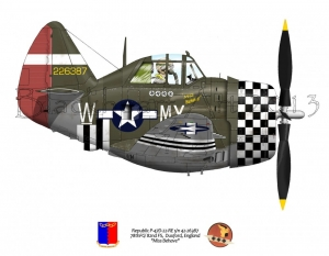 "Republic P-47D ""Miss Behave"""
