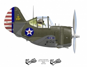 Curtiss P-36A Hawk Alaska