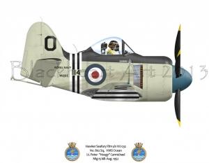 Hawker Seafury HMS Ocean 802 Sq