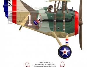 94th Aero Sq Spad XIII Eddie Rickenbacker